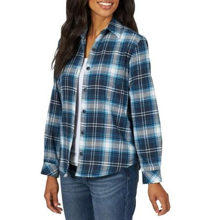 Lee Riders Women's Fleece Lined Flannel Shirt Woolrich Womens Flannel