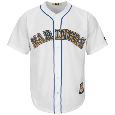 Ken Griffey Jr. Seattle Mariners Majestic Cooperstown Cool Base White Jersey by