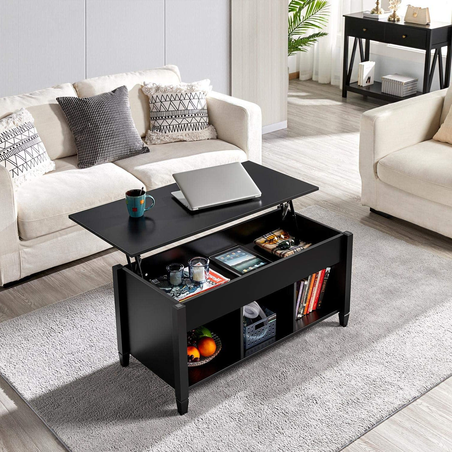 Zimtown Lift Top Coffee Table W Hidden Compartment Wooden Modern Multifunctional Coffee Dining Table Furniture Multi Color Walmart Com Walmart Com [ 1500 x 1500 Pixel ]