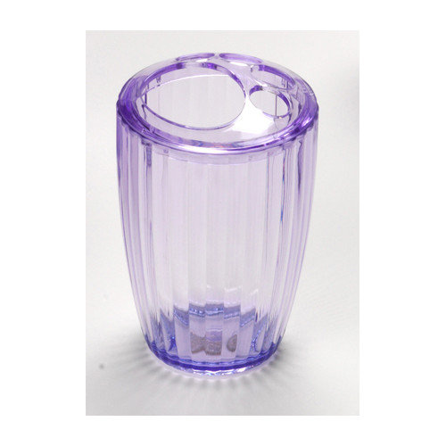 Carnation Home Fashions Acrylic Ribbed Toothbrush Holder