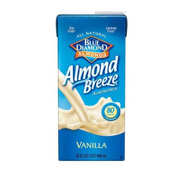 Blue Diamond Almond Breeze Vanilla Beverage 32 oz Tetra P...