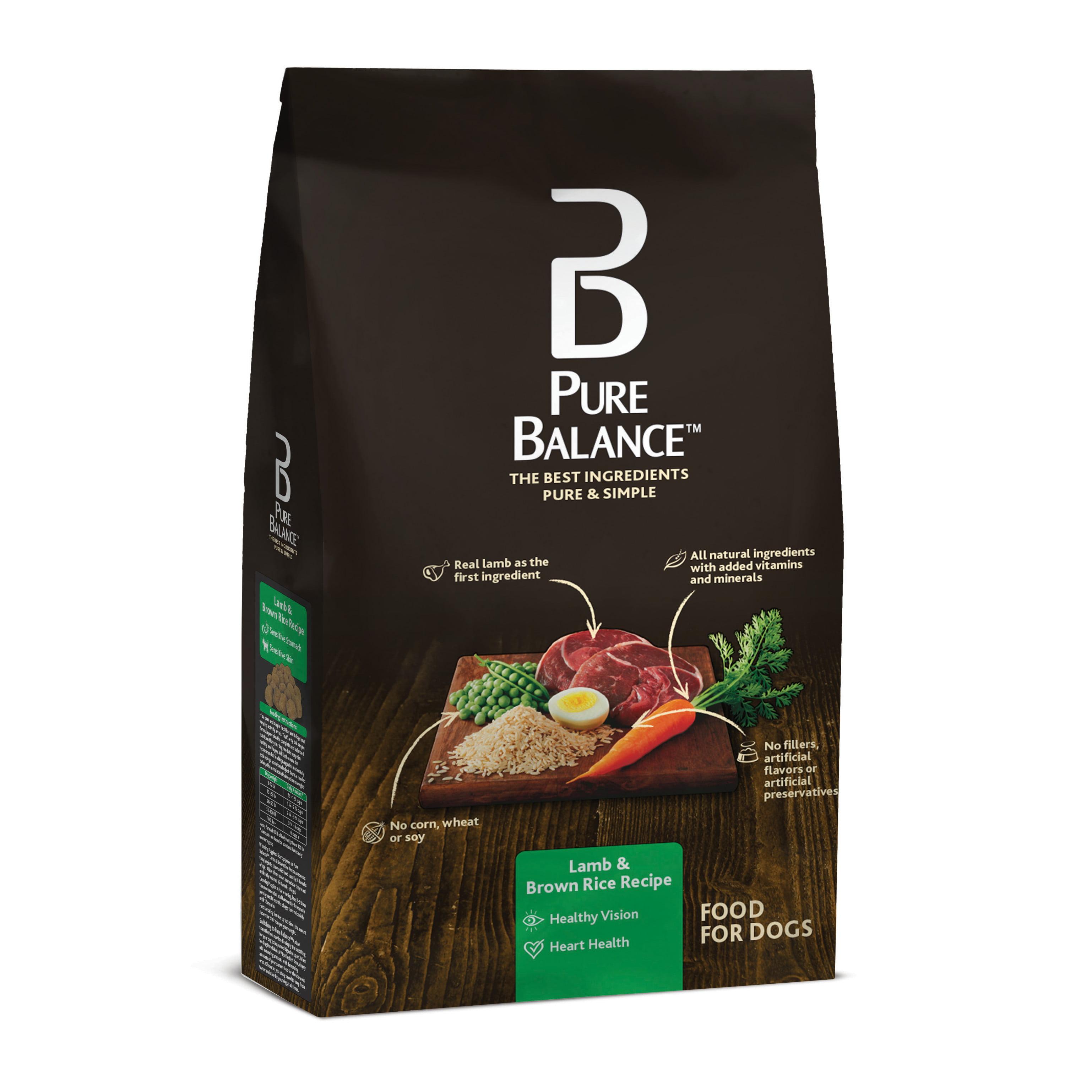 Pure Balance Lamb & Brown Rice Dry Dog Food, 30 Lb