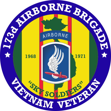 3.8 Inch 173rd Airborne Brigade Vietnam Veteran Decal ()