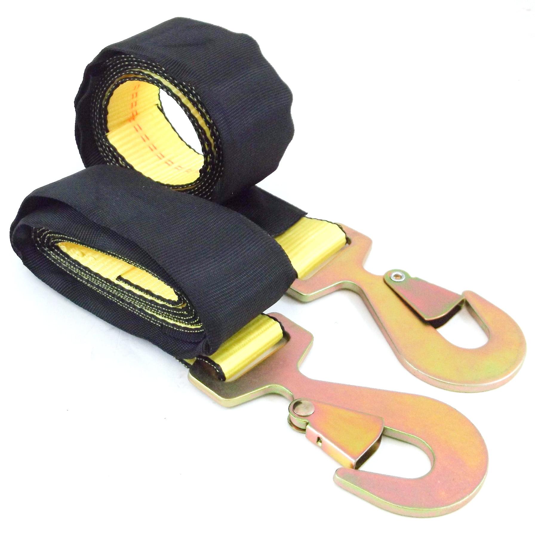 2X Wheel Tie Down 2 Inchesx8 Flat Snap Hook /& Wear Sleeve