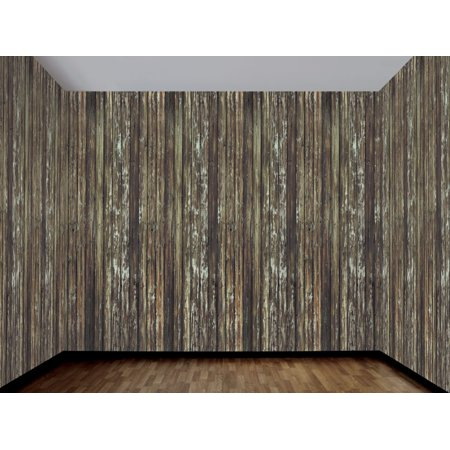 Haunted House Rotted Wood Wall 100 Ft Backdrop Halloween Decoration One Size - image 1 de 1
