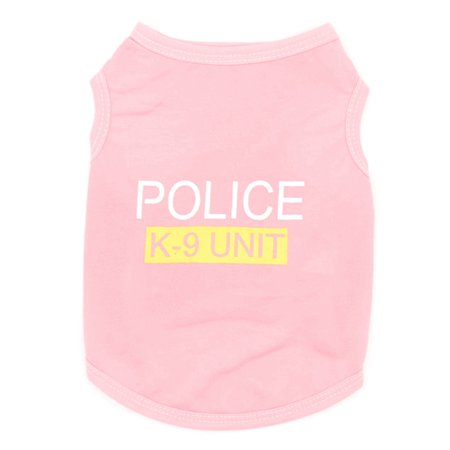 Police Dog Costume (KABOER 1pc Pet Product New Cute Pet Dog Puppy Clothes Police Printed Vest Costumes Summer Coat Letter Printed Outerwear)