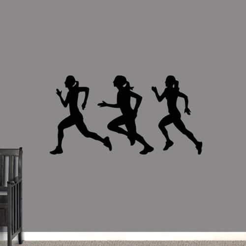 Runners Girls Large Wall Decal S Set BASIC BLUE