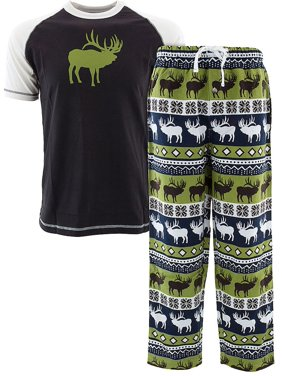 Lazy One Elk Fair Isle Pajamas for Adults