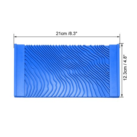 Wood Graining Rubber Grain Tool Pattern Wall Painting Decorating DIY Blue 4.8'' Wide - image 4 de 5
