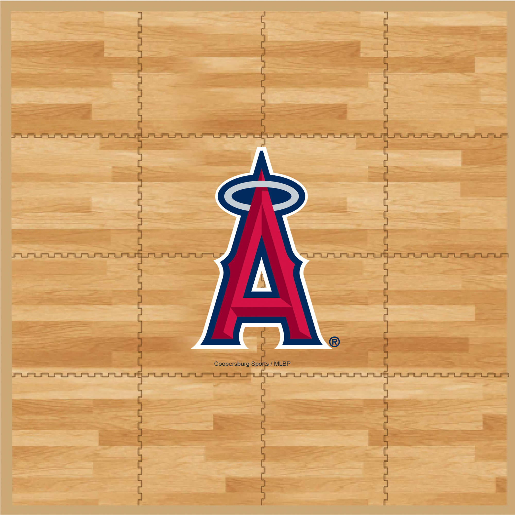 MLB Angles Portable Foam Puzzle Tailgate Floor Mat by