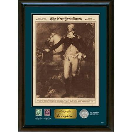 American Coin Treasures New York Times George Washington Commemorative Framed Memorabilia