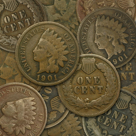 Wheat Cent Us Coins - 1864-1909 Indian Head Cents Avg Circ