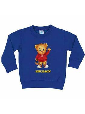 Personalized Daniel Tiger's Neighborhood Hello Daniel Toddler Boy Royal Blue Pullover Sweatshirt