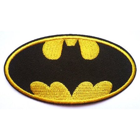 Batman Badge Fancy Dress supafast EMBROIDERED PATCH Badge Iron Sew On 9.5 cm