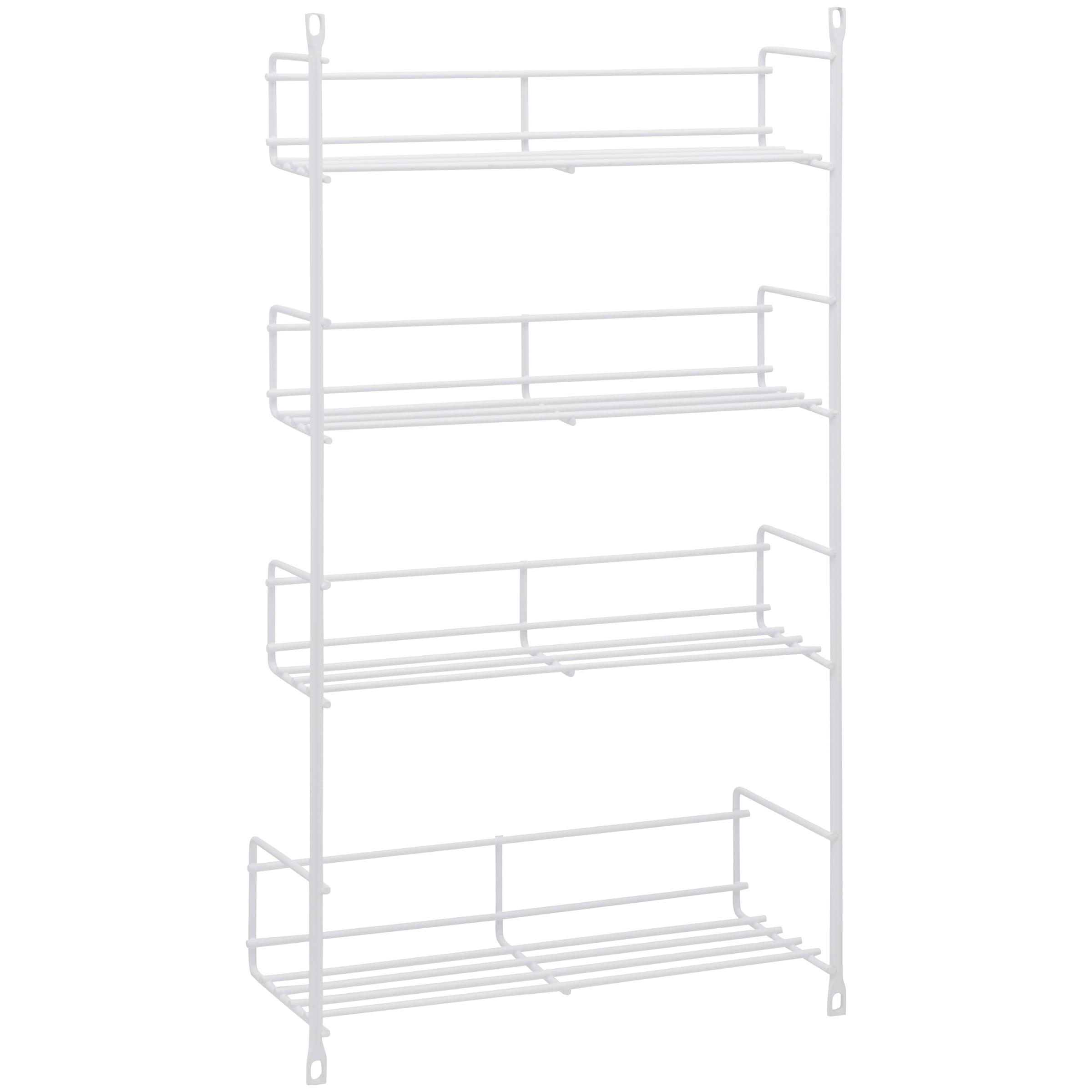 """Generic Knape & Vogt™ White 10.75"""" Wire Spice Storage Rack"""