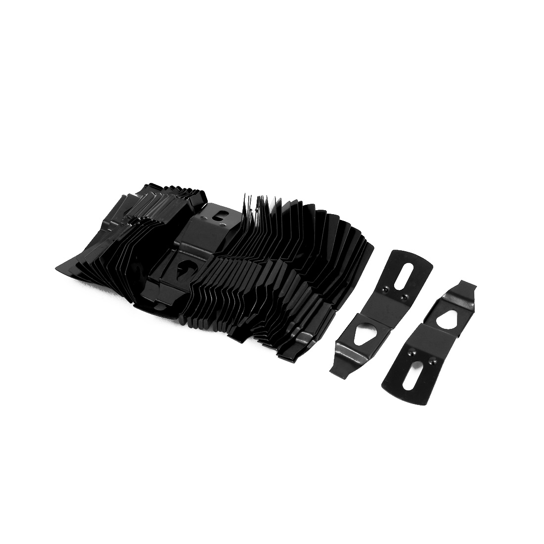 Uxcell 52.5mmx15mmx7.7mm Picture Photo Frame Metal Spring Turn Clip Hanger Black 40pcs - image 2 of 2