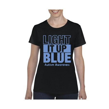 Light It Up Blue Autism Support Women's Short Sleeve T-Shirt](Light Up Tee Shirt)