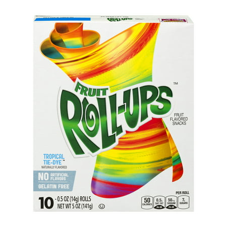 Betty Crocker ® Fruit Roll-Ups Tropical Tye-Dye 10-0.5 oz Rolls, 0.5 OZ