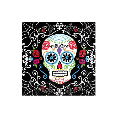 Day of the Dead Lunch Napkins (36 Pack) - Halloween Party Supplies