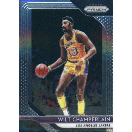 Chamberlain Card (2018-19 Panini Prizm #205 Wilt Chamberlain Los Angeles Lakers Basketball Card )