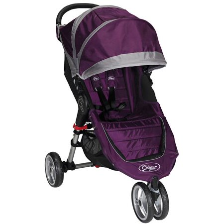 Baby Jogger City Mini 3 Wheels Single Stroller Purple Gray