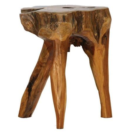 Fantastic Teak Root 3 Legged Stool Walmart Com Machost Co Dining Chair Design Ideas Machostcouk