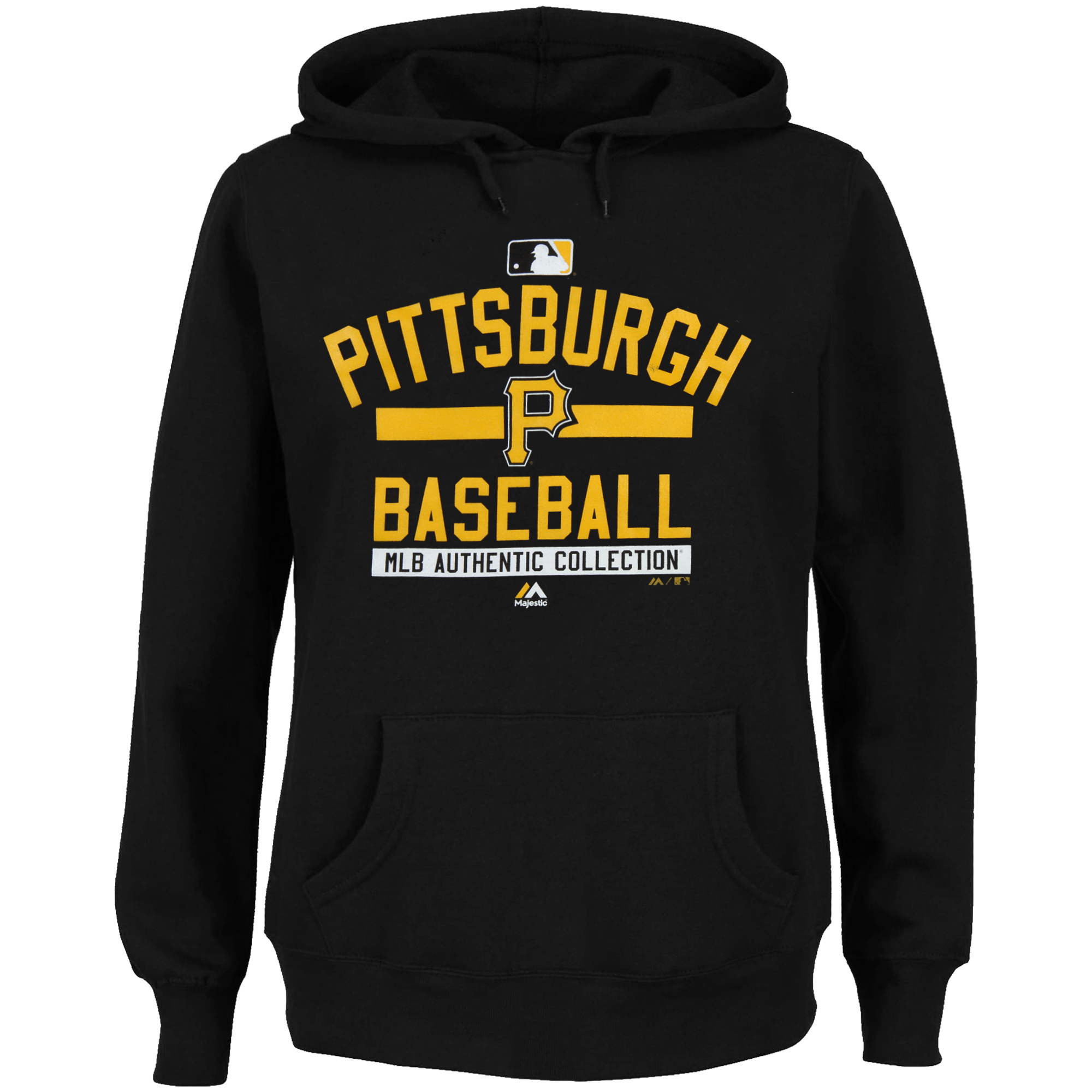 Pittsburgh Pirates Majestic Women's 2015 Authentic Collection Team Property Hoodie - Black