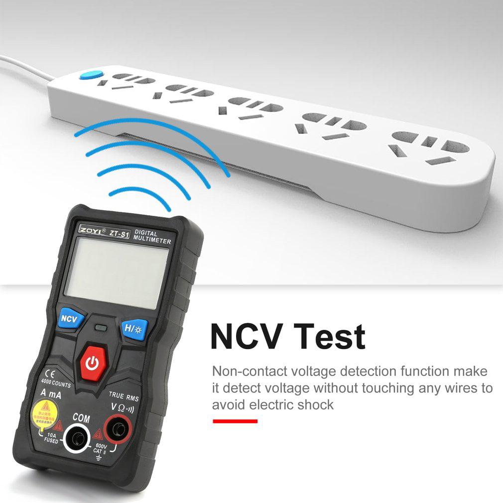 Digital Multimeter Zoyi Dc Ac Volt Amp Ohm Diode Ncv Mini Noncontact Voltage Detector Make Qty