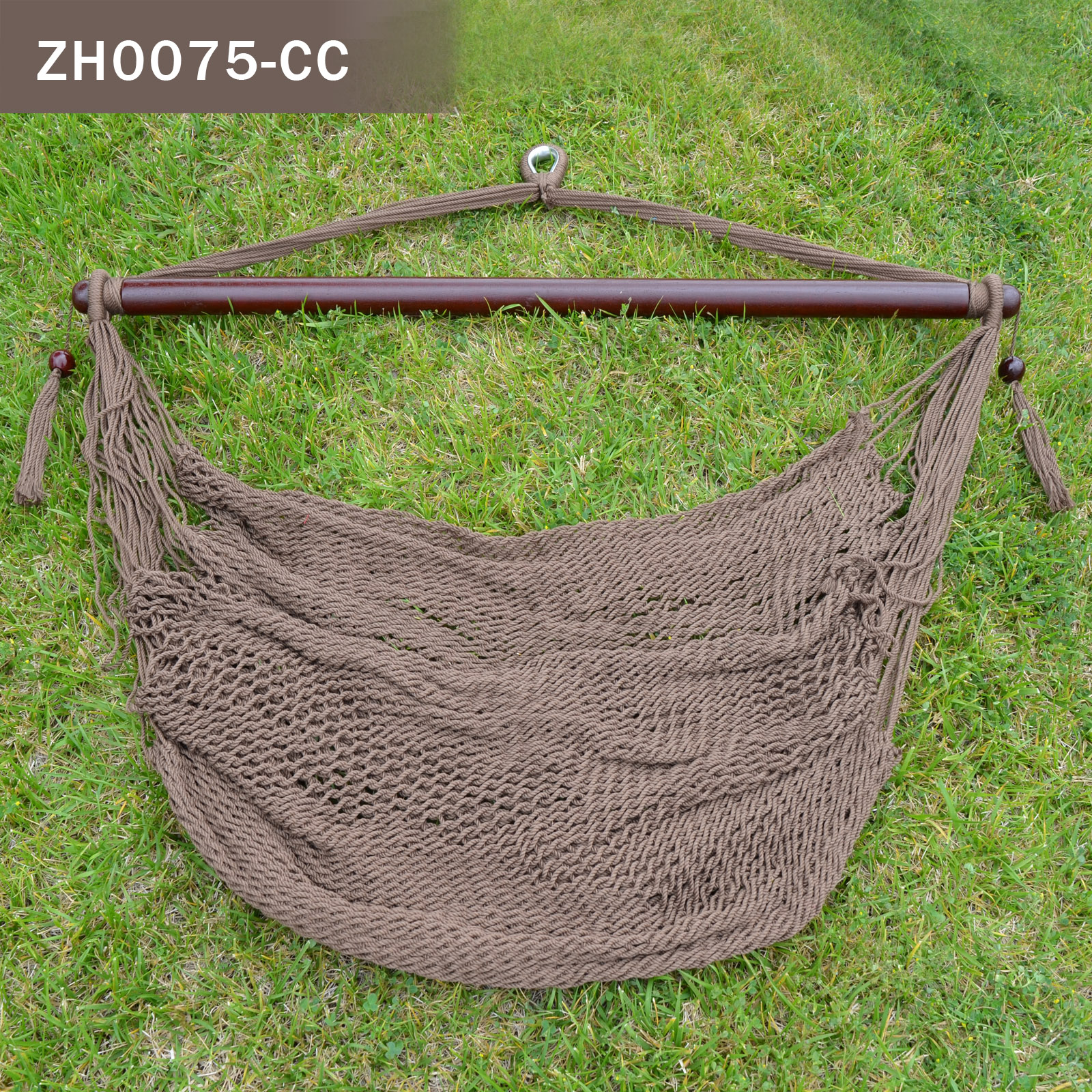 Strong Camel Hanging Caribbean Polyester Hammock Chair 48 Inch (coffee)