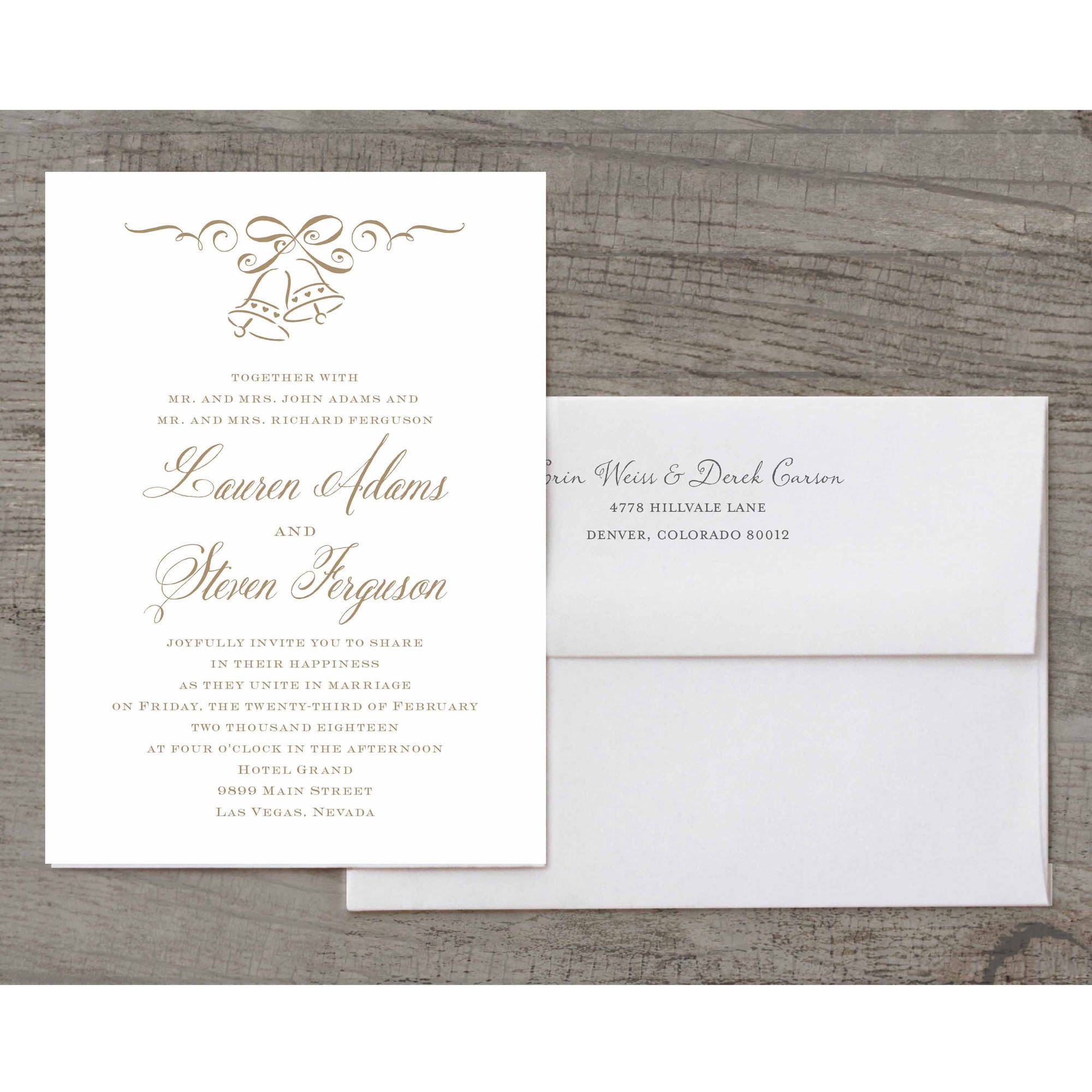Wedding Bells Deluxe Wedding Invitation