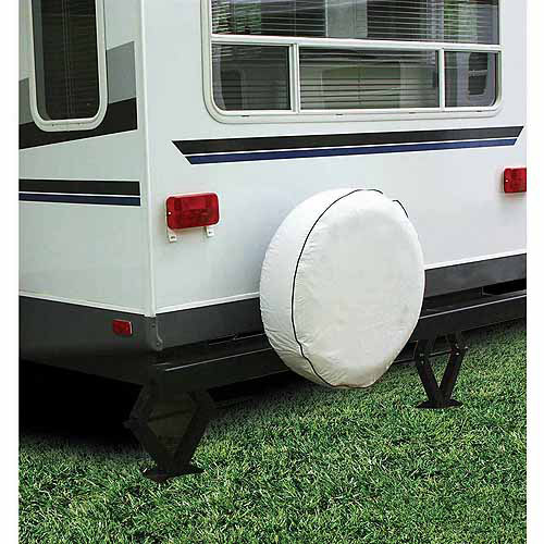 "Camco 27"" RV Spare Tire Vinyl Cover, Arctic White"