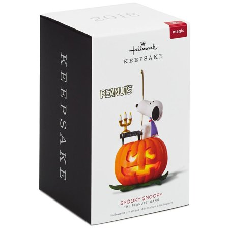 Hallmark Keepsake 2018 The Peanuts® Gang Spooky Snoopy Musical Halloween Ornament With Light