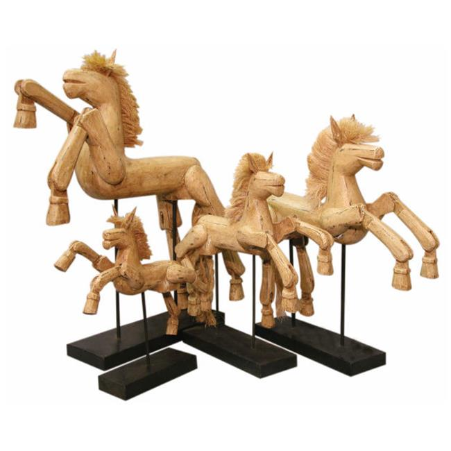 Groovystuff W-0821-M Hinged Horse on Stand - M