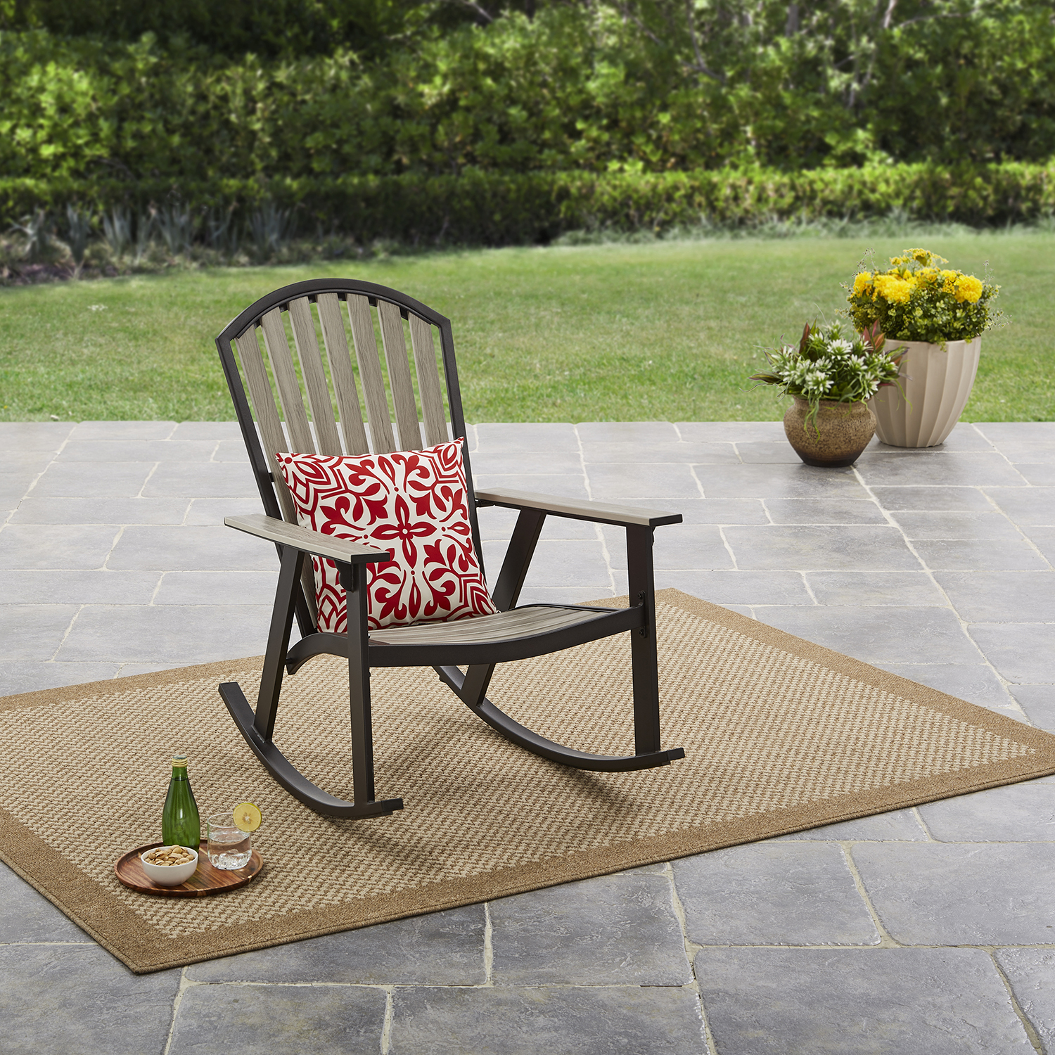 Mainstays Springview Hills Resin Outdoor Adirondack Rocking Chair