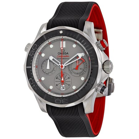 Pre-owned Omega Seamaster Diver 300 Co-Axial Chronograph Automatic Chronometer Grey Dial Men's Watch