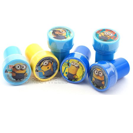 Minions Character Names (Despicable Me Stampers Party Favors (10 Stampers), Minions characters stampers self inking. By)