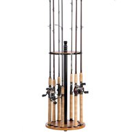 Organized Fishing Round Floor Rack