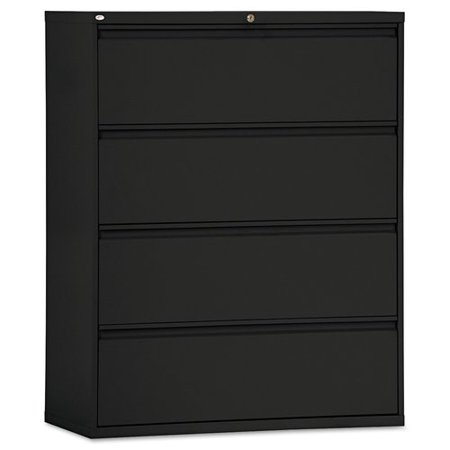 Alera 4 Drawers Lateral Lockable Filing Cabinet Black