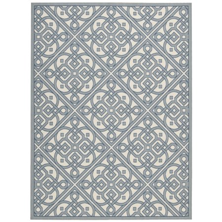 Waverly Sun Shade Lace It Up Stone Indoor Outdoor Area Rug By