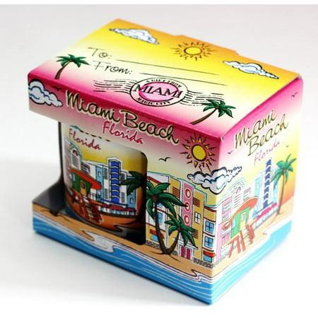 Miami Beach Florida Skyline Ceramic Boxed Coffee Mug 11oz