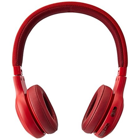 93bb9e75405 jbl e45btred bluetooth wireless on-ear headphones with microphone - red -  Walmart.com
