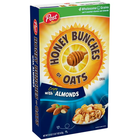 Post Honey Bunches of Oats with Crispy Almonds Cereal, 23 oz.