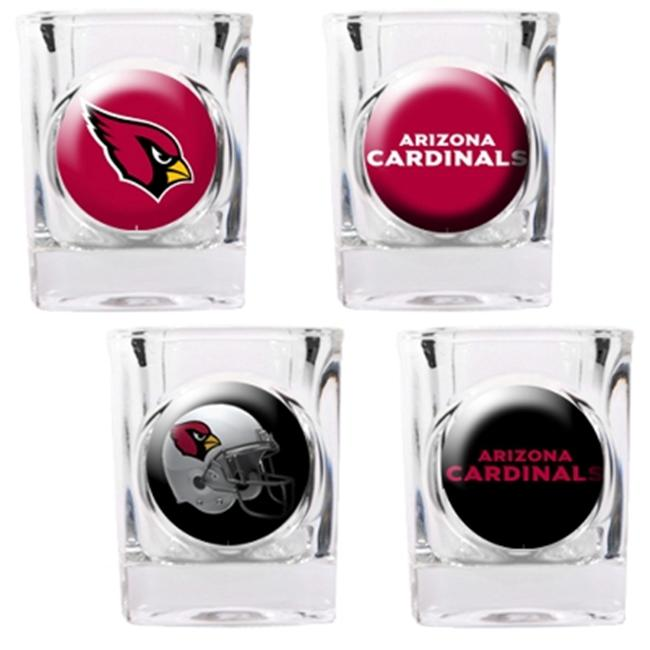 Great American Products 41122 4pc Collectors Shot Glass Set- Arizona Cardinals