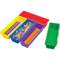 Pencil Trays ,Assorted Colors (5pk)