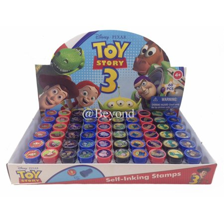 60 PCS Disney Toy Story 3 Self-inking Stamp Birthday Party Favors Stampers