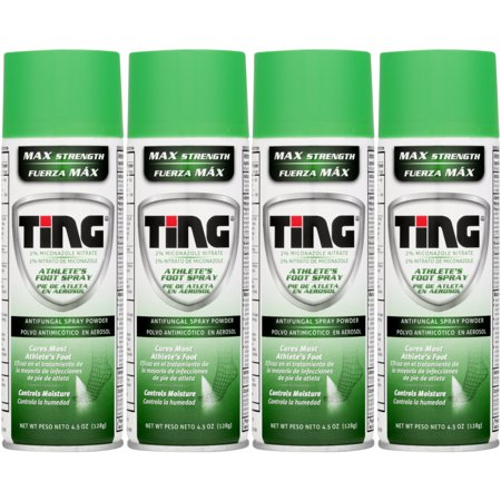 - Ting Athlete's Foot and Jock Itch Anti Fungal Spray Powder - 4.5 oz (Pack of 4)