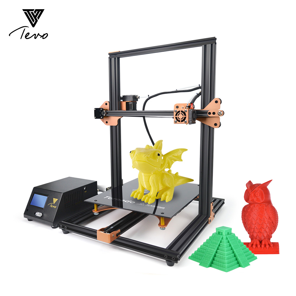 TEVO Tornado 3D Printer Large Print Volume 300 * 300 * 400mm Self-assembly Full Metal Frame for Home School Teaching Use