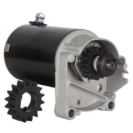Motor Starter Contact - STARTER MOTOR FITS BRIGGS & STRATTON 14 16 18 HP STARTER 497596 V TWIN WITH FREE GEAR