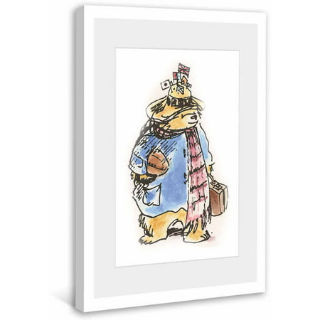 Paddington Bear Traveling Bear Framed Art Print