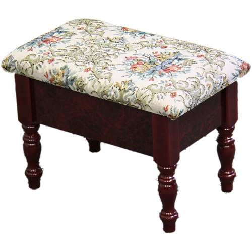 "10"" Cherry Footstool with Storage"
